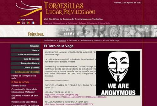 Anonymous touro de la vega
