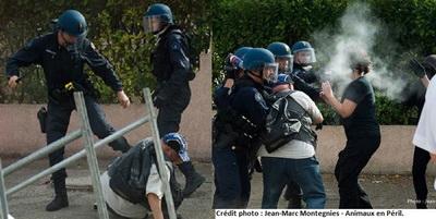 Rodilhan a brutalidade policial
