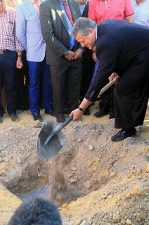 1ª pedra praca de touros Velez Rubio