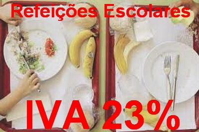 refeicoes escolares IVA 23%