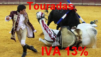 touradas IVA 13%