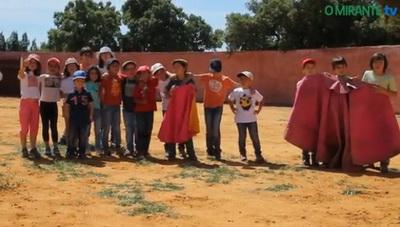 forcados chamusca crianças assistem a treino1