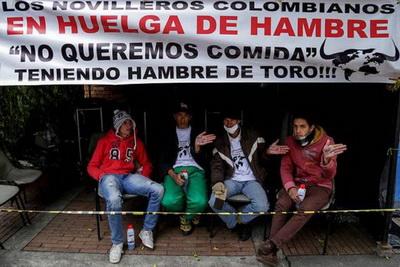 tauricidas colombianos em greve de fome