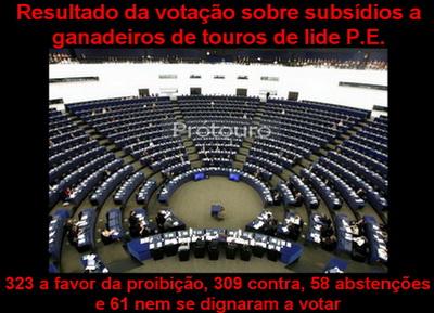 votacao parlamento europeu subsidios