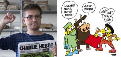 cartoon charlie hebdo antitauromaquia