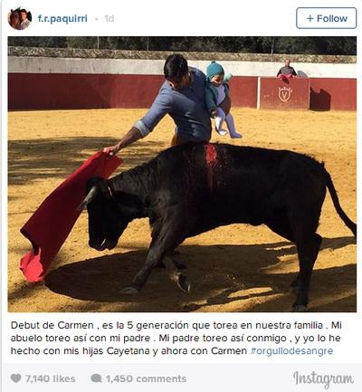 paquirri toureia com filha de 5 meses