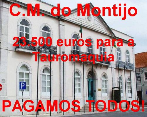 c.m. Montijo 23.500 euros para a tauromafia