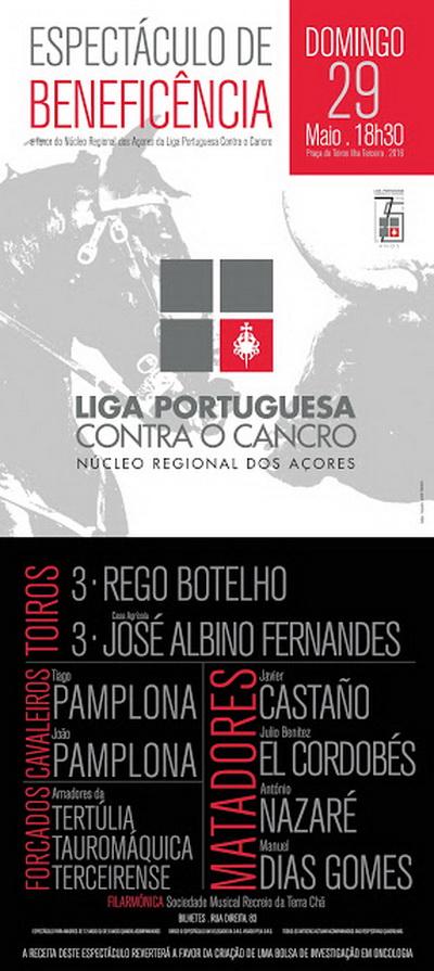 liga portuguesa contra o cancro organiza tourada