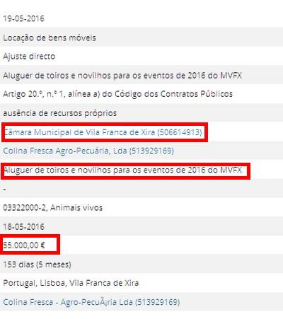 VFX 55.000 euros para touros
