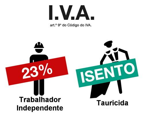tauricidas isentos de IVA