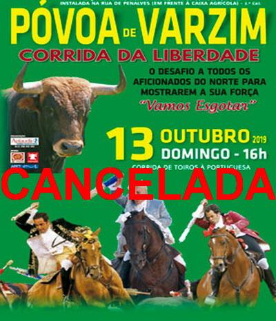 tourada povoa cancelada